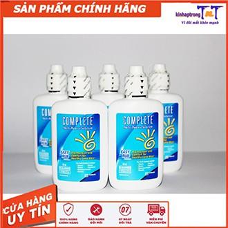 [CHÍNH HÃNG] tặng khây ngâm Nước ngâm rửa kính áp tròng diệt khuẩn Complete Easy Rub 100ml thời trang cao cấp, an toàn