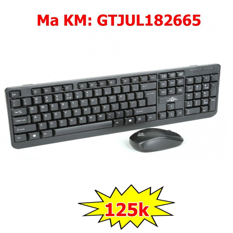 Bộ bàn phím chuột không dây Warship KM200 chính hãng