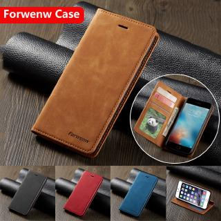 Samsung Galaxy A11 A01 A21 A51 A71 A31 A6 A7 A8 2018 Forwenw Leather Phone Case Magnet Flip Stand Wallet Card Slots Bracket Shockproof Phone Case Protection Cover Shell