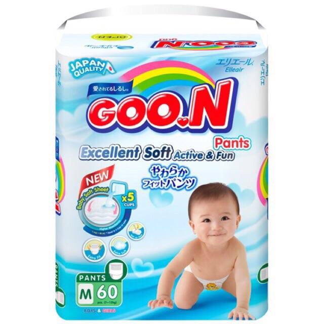 (Giá sốc) Bỉm goon Slim (Bịch đại) dán/quần Size M66/L56/XL50/M60/L48/XL42/XXL34