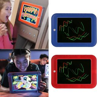 DE❀ 3D Magic Drawing Board Creative Kids Children Pen LED Lights Glow Art Sketchpad