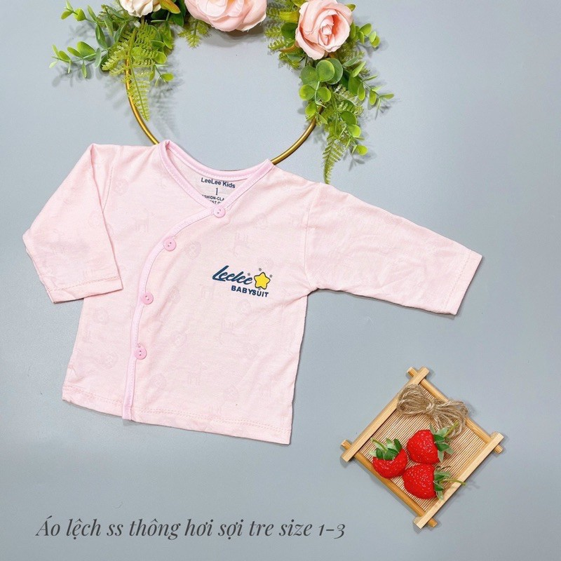 ÁO SƠ SINH  FREESHIP  Áo Sơ Sinh Cúc Lệch Thông Hơi Baby Suit