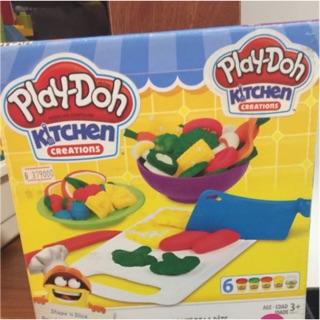 Đồ chơi bột nặn ( đất nặn) Playdoh- Khuôn Tạo Hình Rau Củ Nhà Bếp B9012