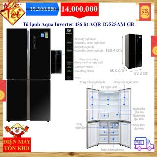 Tủ lạnh Aqua Inverter 456 lít AQR-IG525AM GB