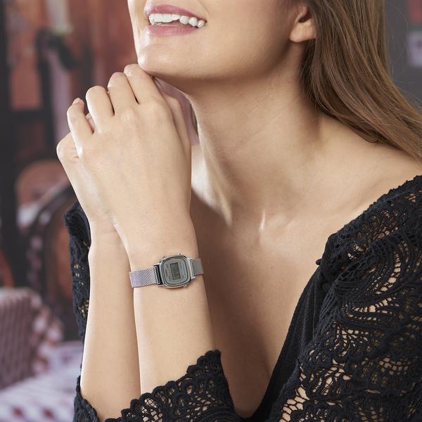 Đồng hồ nữ dây kim loại chính hãng Casio LA670WEM-7DF