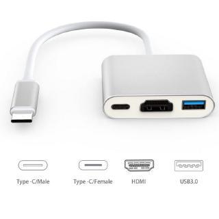 Cáp chuyển đổi từ Type c sang HDMI kết nối tivi máy chiếu + USB 3.0 kết nối phím chuột... Cáp Typec to HDMI