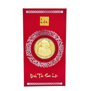 Mặt vàng Kim Hợi Đắc tài Sai lộc kèm Bao lì xì - ANCARAT - AG9992.Q012.01D