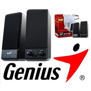 Loa vi tính Genius SP-S110 2.0 Âm Thanh Hay | Loa di động, loa đôi có dây