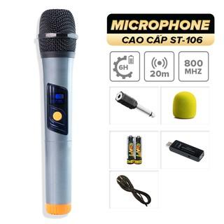 Micro không dây C.O.K ST-106 [1 đầu thu tương thích 1 micro, phù hợp mọi loa kéo & amply có cổng Mic 6.5] BH 6 tháng