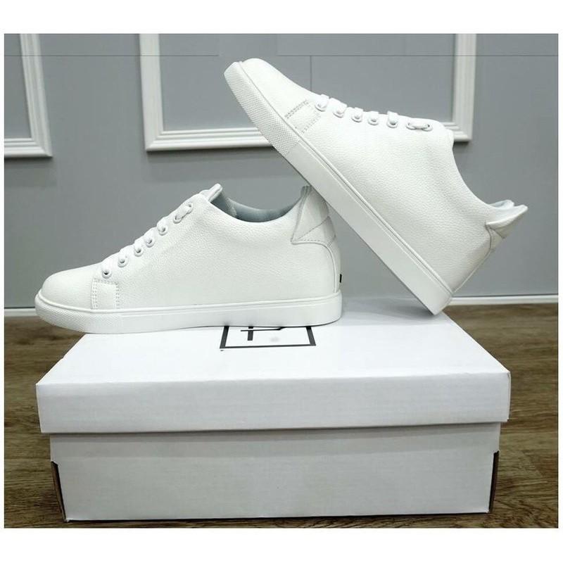 Giày Thể thao Sneaker nam trắng Miếng Lót giày Tăng chiều cao độn đế cao đến 6cm Siêu đẹp giá