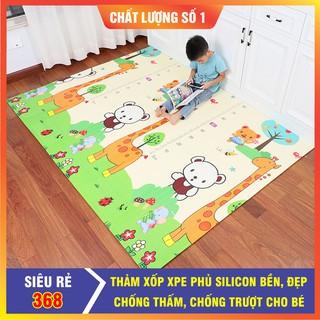 Thảm xốp XPE 2 mặt phủ Silicone Hàn Quốc mẫu đẹp chống thấm tuyệt đối, chống ngã, cho bé t