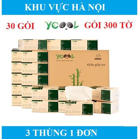 30 GÓI GIẤY ĂN GẤU TRÚC YCOOL/ KHĂN GIẤY SỢI TRE/ GIẤY VỆ SINH YCOOL