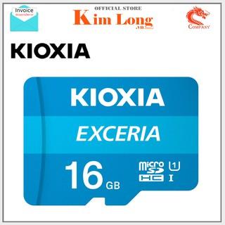 [Mã ELFLASH5 giảm 20K đơn 50K] Thẻ nhớ 16GB Kioxia ( Toshiba ) Micro SD Class 10 UHS-I 100MB/s - FPT phân phối