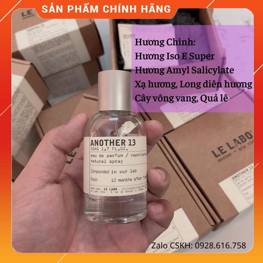 [CHÍNH HÃNG] Nước Hoa Nam Nữ Le Labo Another 13 Hàng Full Box 100% Cực Thơm