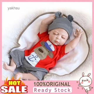Yak-46cm Handmade Real Looking Newborn Baby Reborn Doll Sleeping Toy Kids Gifts