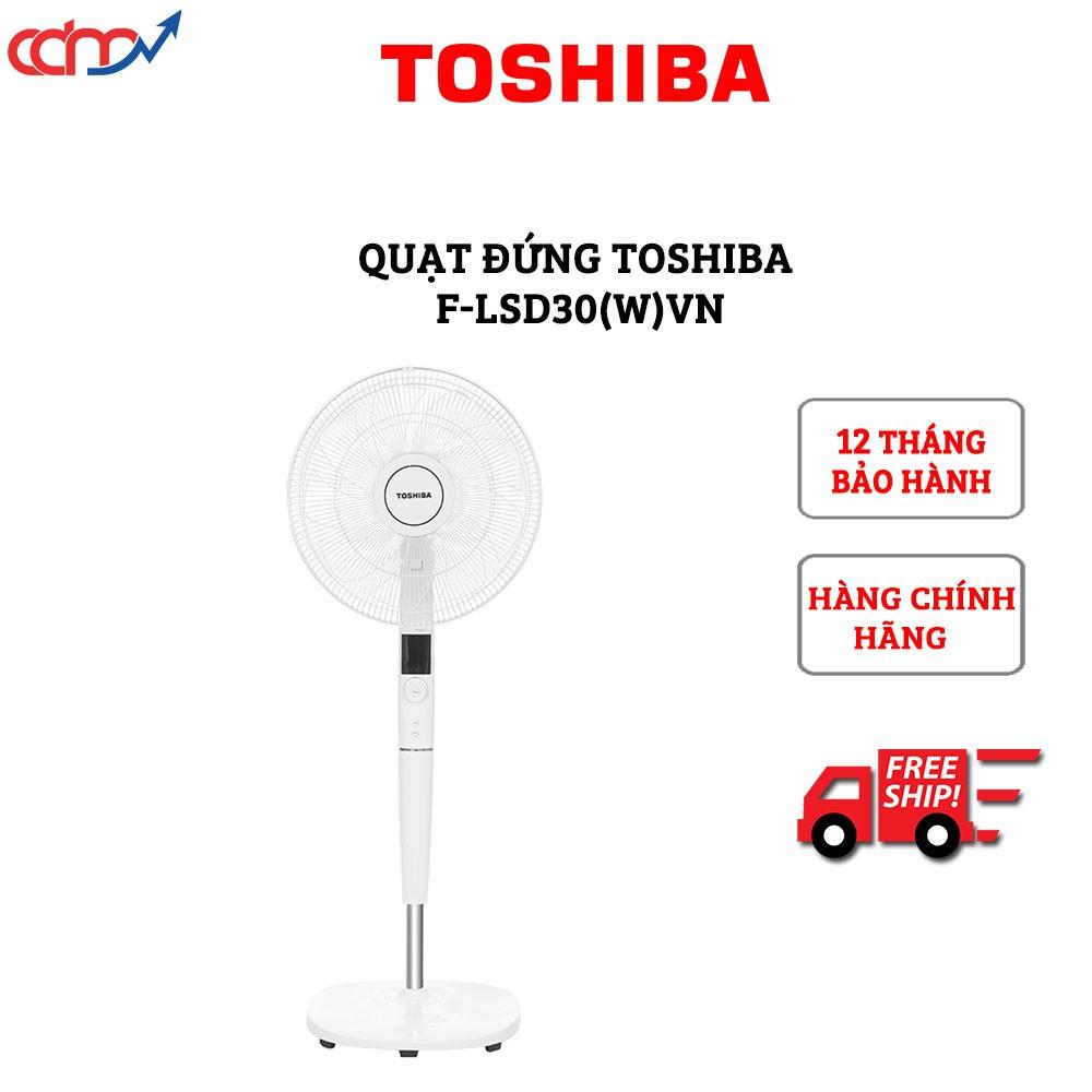 Quạt đứng Toshiba F-LSD30(W)VN - Hàng chính hãng - Công nghệ DC Inverter tiết kiệm đến 70% điện năng