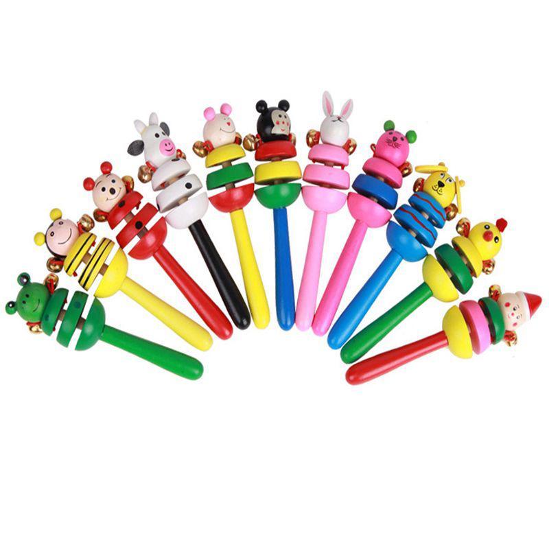 Instruments Handbell Cartoon Animals Rattles for Baby Kids Infant Toddler