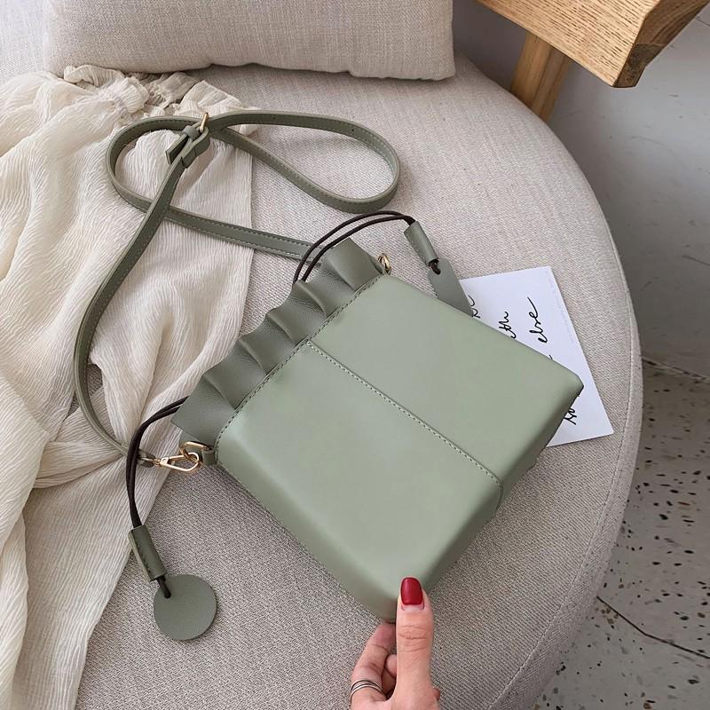 กระเป๋าสะพายหญิงเล็กสดถังสูบน้ำกระเป๋าสะพายกระเป๋า Messenger