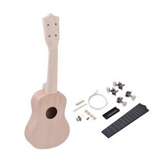 Tsm★21 Inches Unfinished DIY Ukulele Ukelele Uke Kit Basswood Body & Neck Plasti