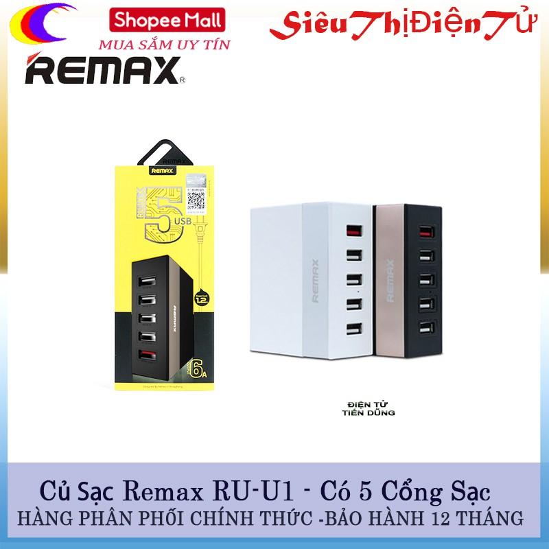 Củ sạc Remax RU - U1 có 5 cổng USB