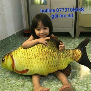 [Siêu hót]Gối ôm 3D cá chép, cá chép nhồi bông
