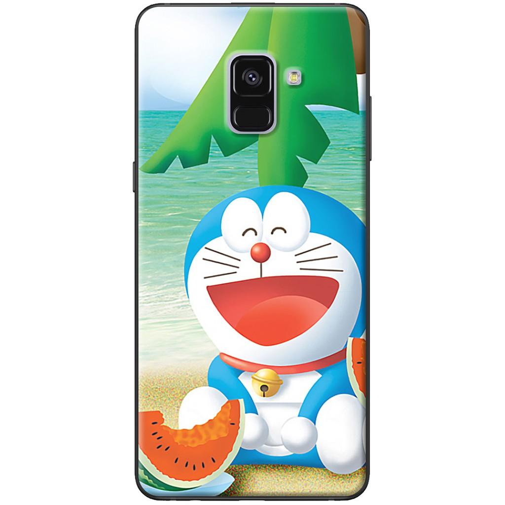 Ốp lưng Samsung A8 2015, A8 2018, A8 Plus Doraemon dưa hấu