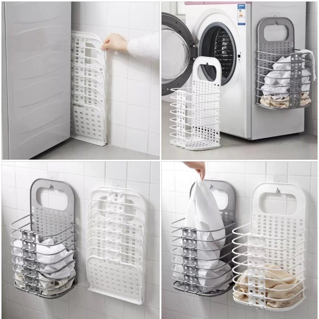 Giỏ nhựa để quần áo gấp gọn (siêu rẻ)