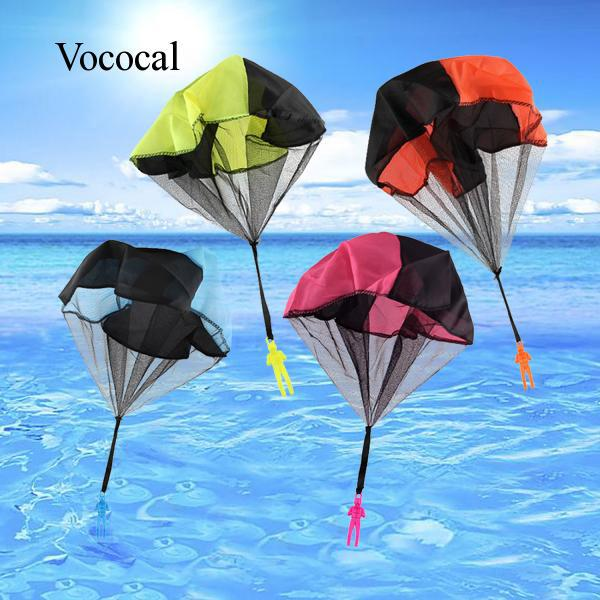 4 PCS Tangle Free Hand Throwing Parachute Figures Toy Children Outdoor Flying Toys No Strings Random Colors V469 Vococal