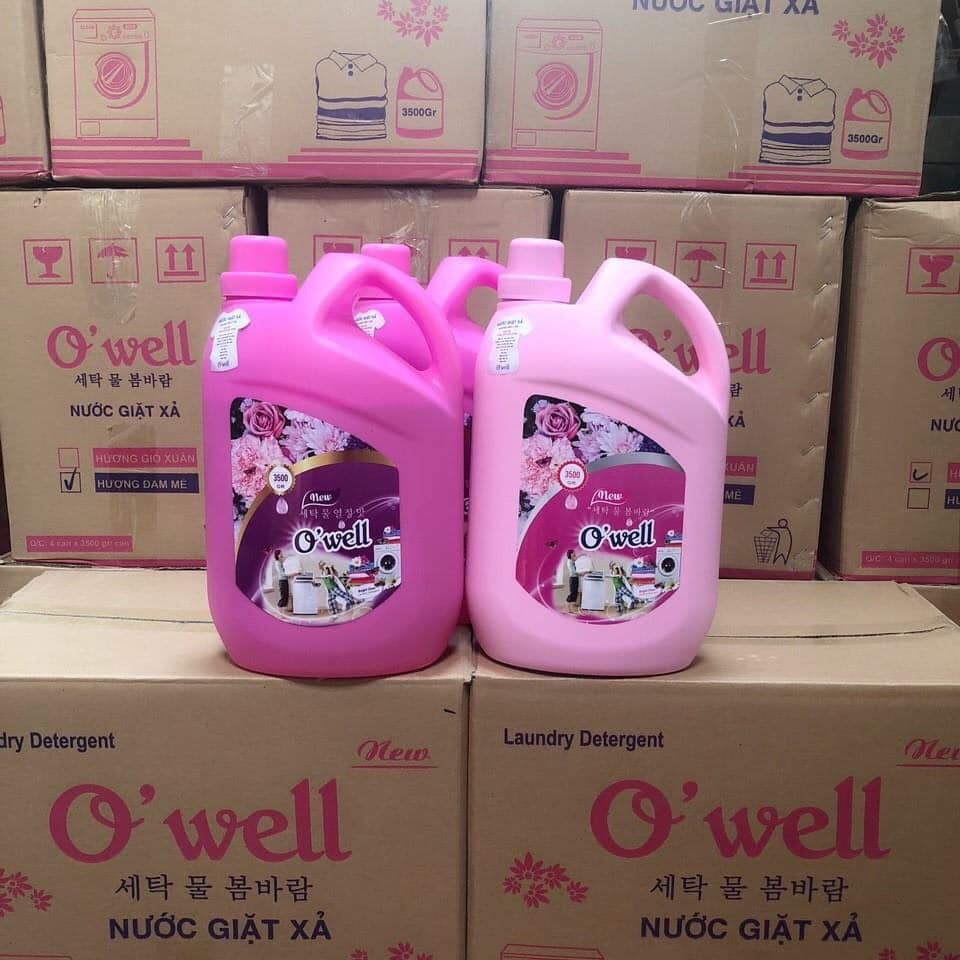 Chai nước giặt xả Owell 3500ml. | Shopee Việt Nam