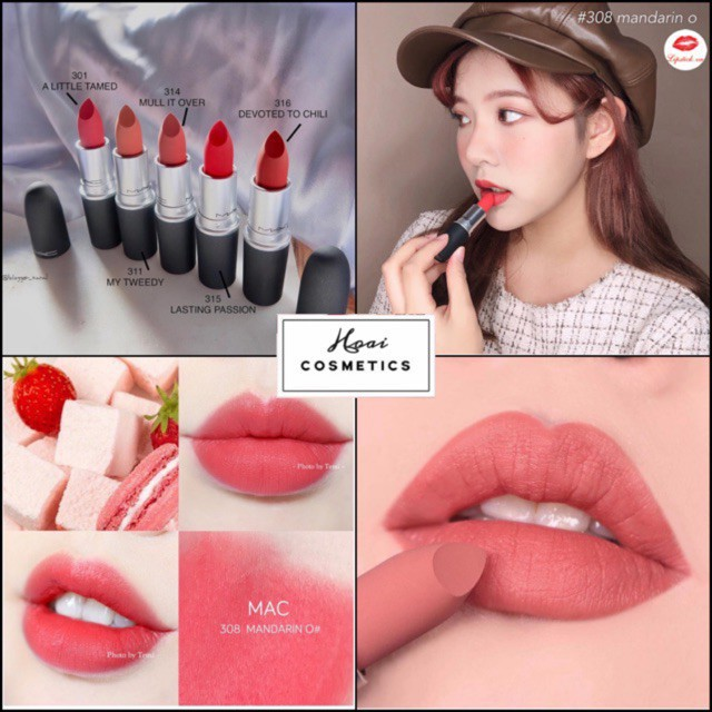 Son MAC Chính Hãng RUBY WOO/DEVOTED TO CHILI/LADY DANGER/DANGEROUS/MARRAKESH - Hàng Đủ Bill Bao Check