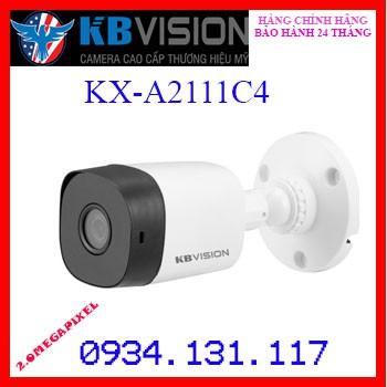 Camera THÂN 4 in 1 hồng ngoại 2.0 Megapixel KBVISION KX-A2111C4 (THAY THẾ KX-2111C4)