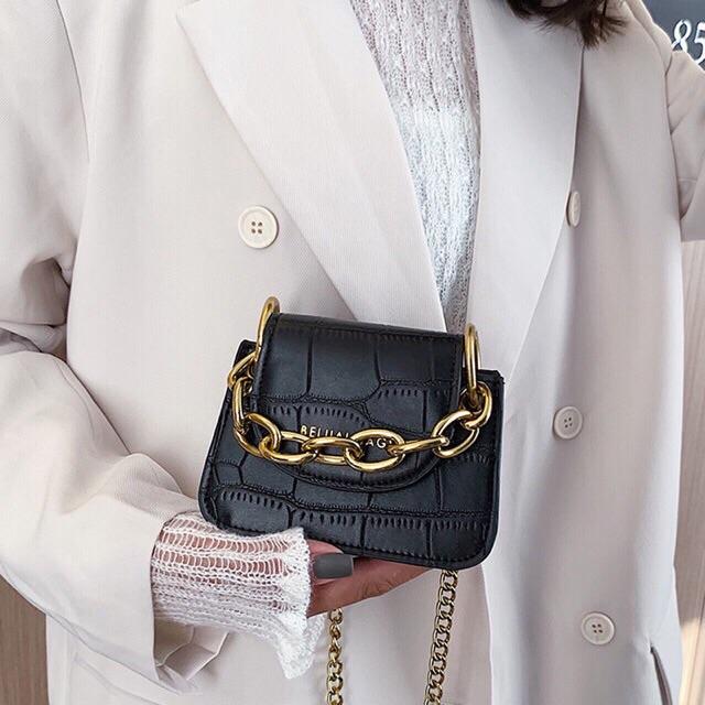 Freeship 50k - Túi xách mini đeo chéo dây xích cách điệu Trend 2020