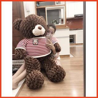 Gấu bông Teddy Cao Cấp khổ vải 1m2 Cao 1m màu Nâu hàng VNXK- Quà Tặng Yêu Thương