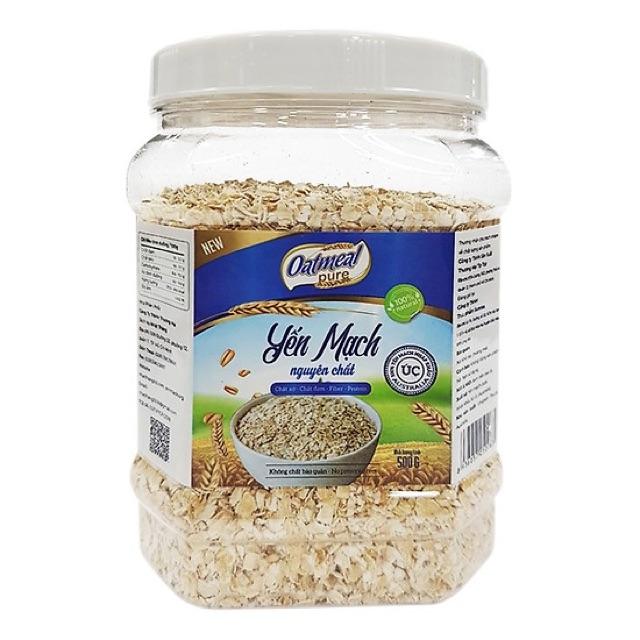 Ngũ cốc yến mạch ăn kiêng Oatmeal hộp 800g Ngũ cốc yến mạch ăn kiêng Oatmeal hộp 800g