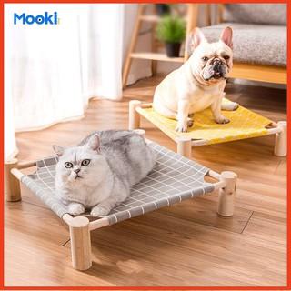iường gỗ cho thú cưng kèm vải thoáng khí Võng cho chó mèo dễ dàng tháo lắp và làm sạch thumbnail