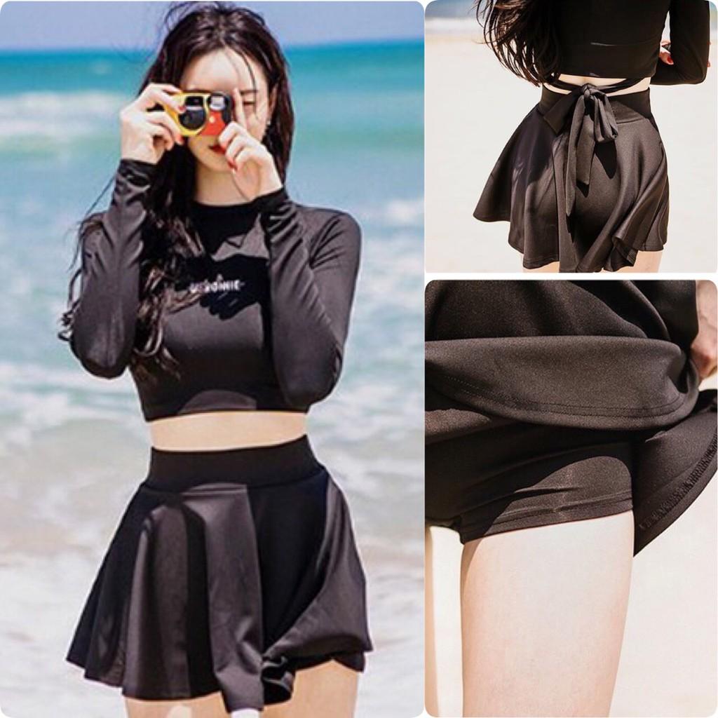 Bikini tay dài váy xòe Hàn Quốc 2019 ( kèm hình trải sàn)