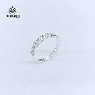 Nhẫn Bạc Nữ 2 Hàng Đá - Minh Canh Jewelry