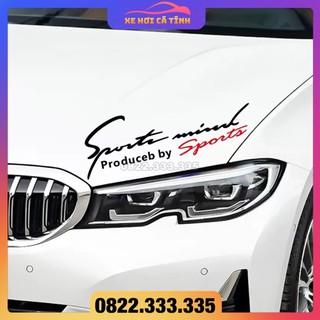 decal sport mind phản quang dán xe hơi, tem thể thao cho ô tô, stiker trang trí xe hơi thumbnail