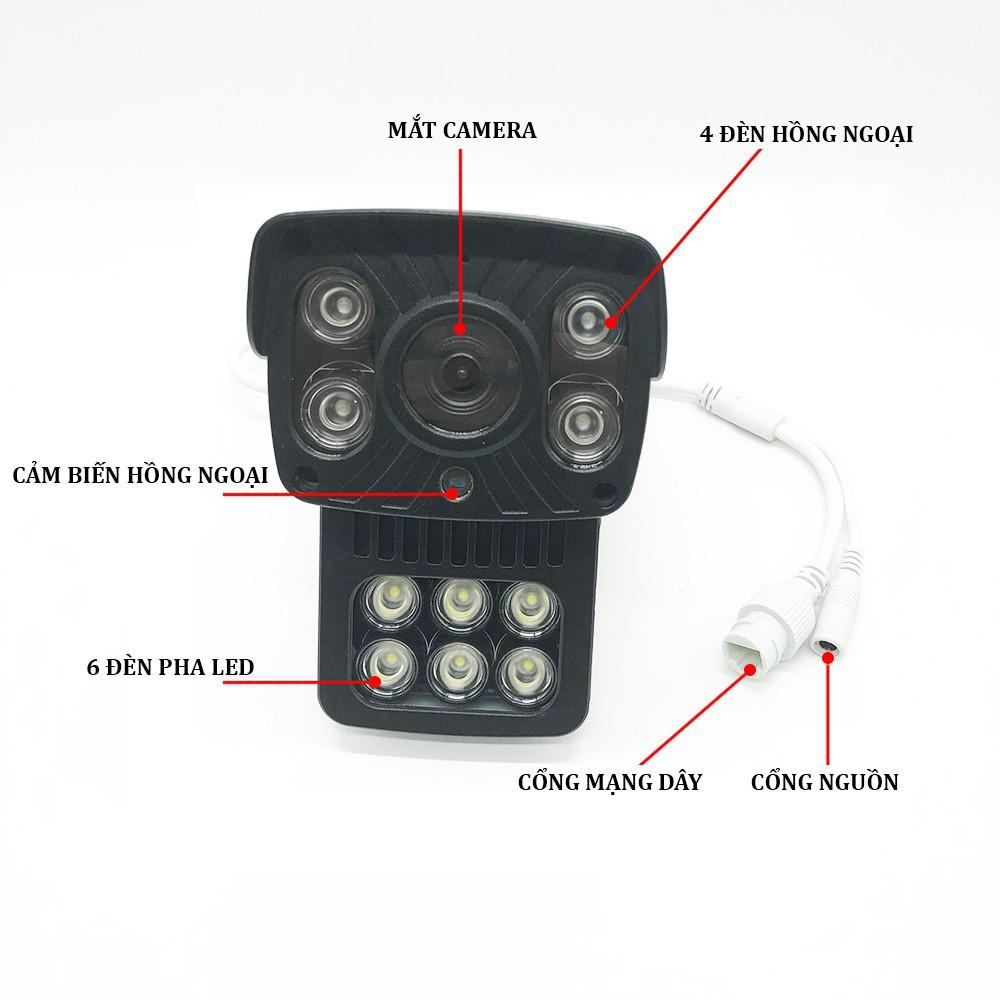 Combo Camera Ngoài Trời Yoosee 2 Râu X3000 720HD 1.0 Mpx - Hỗ Trợ 6 Đèn LED - Tặng thẻ Yoosee 32GB