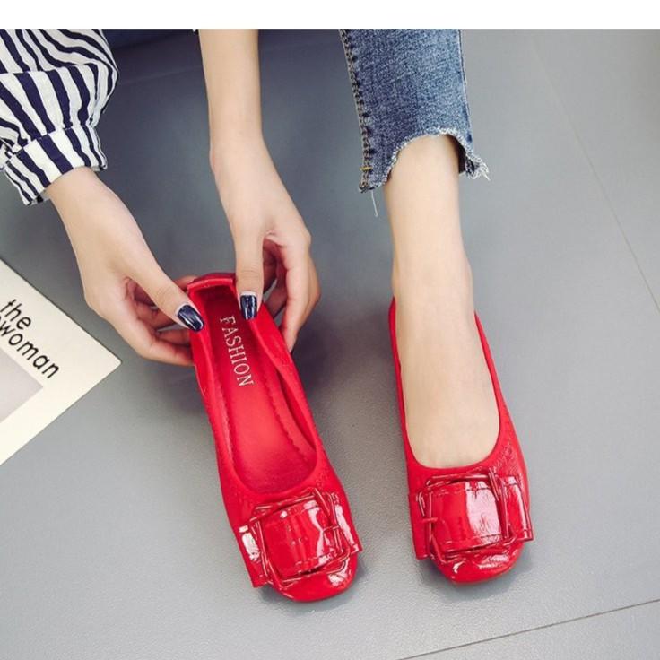 Giày búp bê da chun siêu êm chân - GCG09