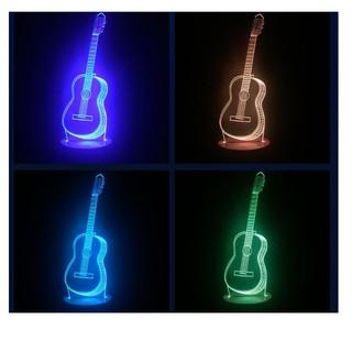 Led 3D Đàn ghi ta 7 màu