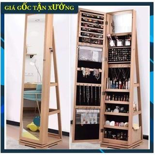 SỈ LẺ Tủ gương trang điểm bằng gỗ, tủ và gương đựng đồ trang điểm bằng gỗ cao cấp, sang chảnh tuyệt vời thumbnail