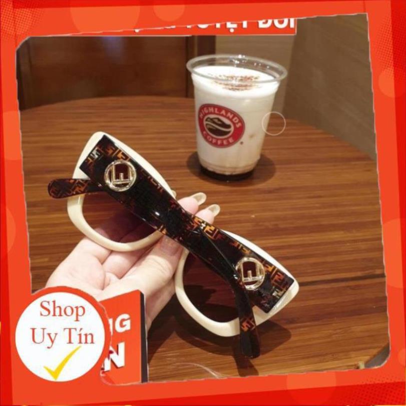 (Hàng Siêu Cấp) Kính Mát Nữ FD Super Siêu Cấp Thiết Kế Màu Trắng Sữa Cực Sang Chảnh Chống UV400,Tia...