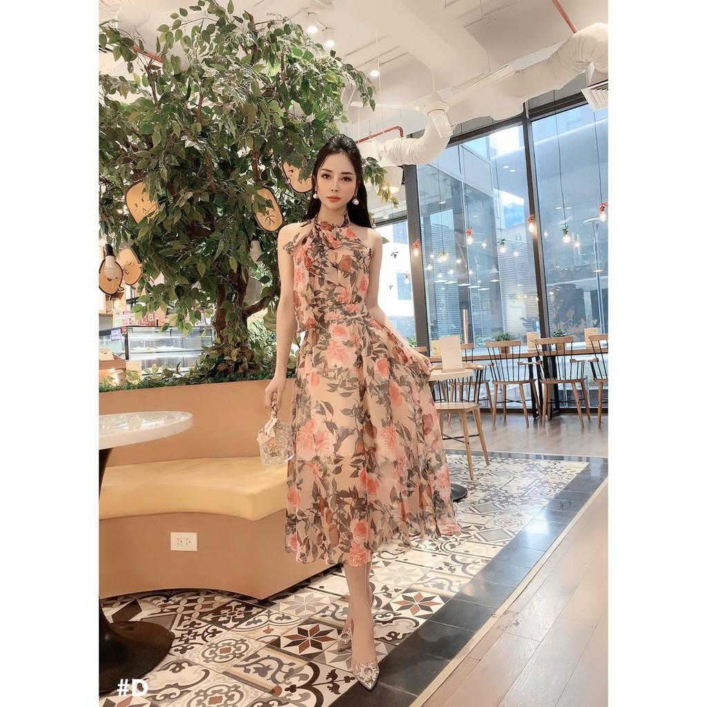 Váy maxi đi chơi, siêu sang chảnh, quyến rũ, vải voan lạnh Hàn Quốc mềm mịn. Hỗ trợ phí ship.