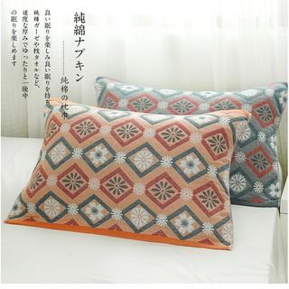 Tấm Phủ Gối Nhật Họa Tiết Vintage Cotton Sợi Tre