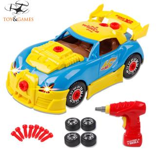 Kids DIY Think Gizmos Take Apart Toy Racing Car Electric Screwdriver Tools Mind and Hand