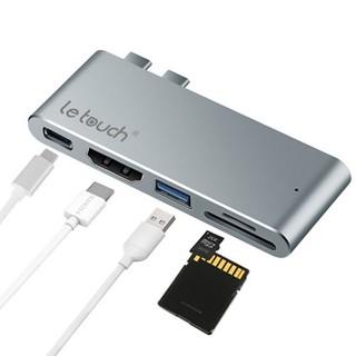 [Mã 159ELSALE hoàn 7% xu đơn 300K] Cáp chính hãng USB-C HUB PRO HDMI 4K Letouch dual xám thumbnail