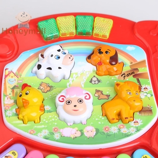 [Hot/COD] Baby Kids Musical Educational Animal Farm Piano Developmental Music Toy