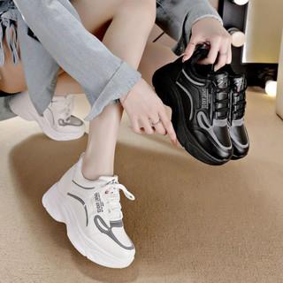 giày nữ độn đế ❤ freeship❤ giày thể thao đế độn full hộp chuẩn QC