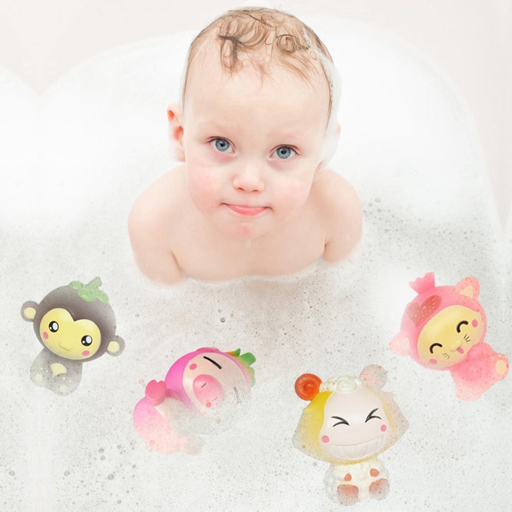 Baby Bathing Wash Play Cartoon Fruit Educational Intelligence Toys For Child